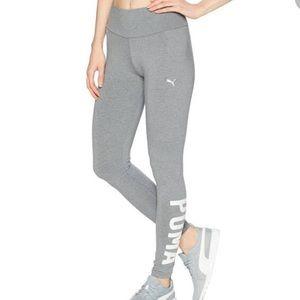 Women's Puma gray leggings size Large.